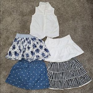 Other - Lot of 5 Girls Skirts and Shirt